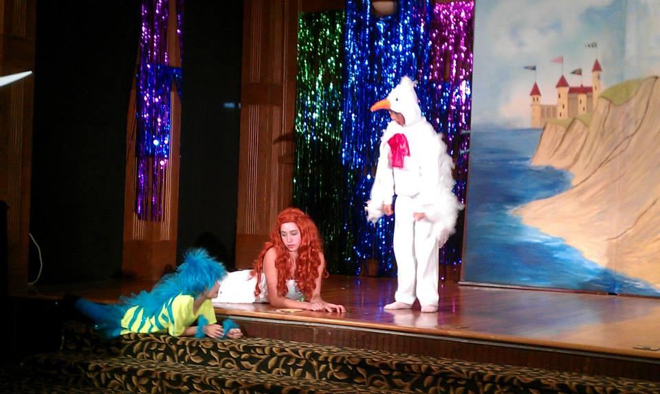 As Ariel in The Little Mermaid June 2013